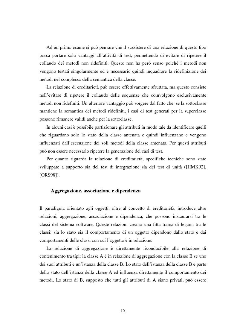 Anteprima della tesi: Una tecnica per il test interclasse, Pagina 11