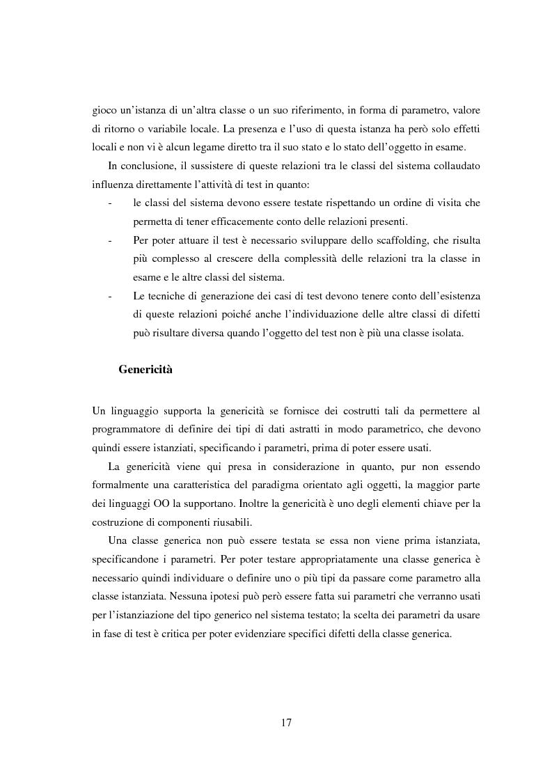 Anteprima della tesi: Una tecnica per il test interclasse, Pagina 13