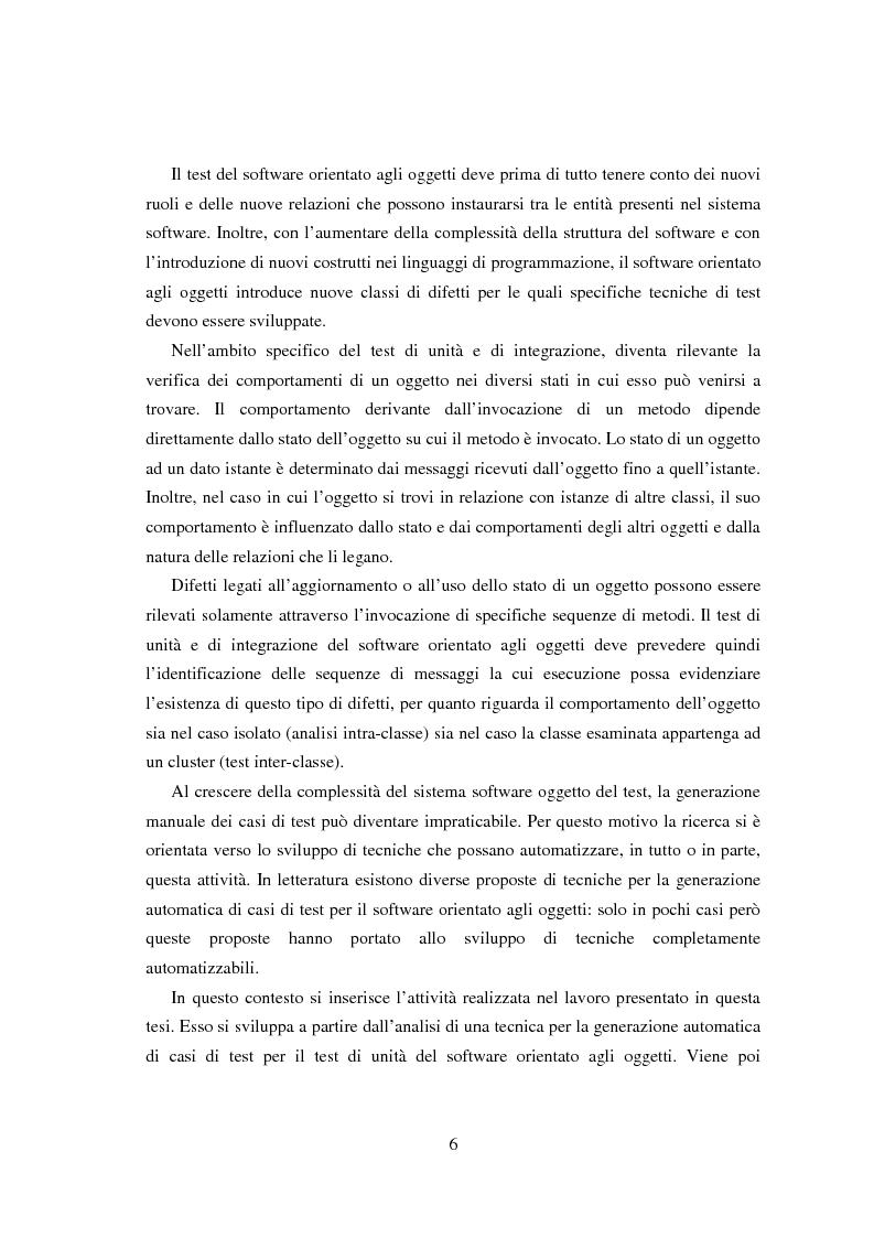 Anteprima della tesi: Una tecnica per il test interclasse, Pagina 2