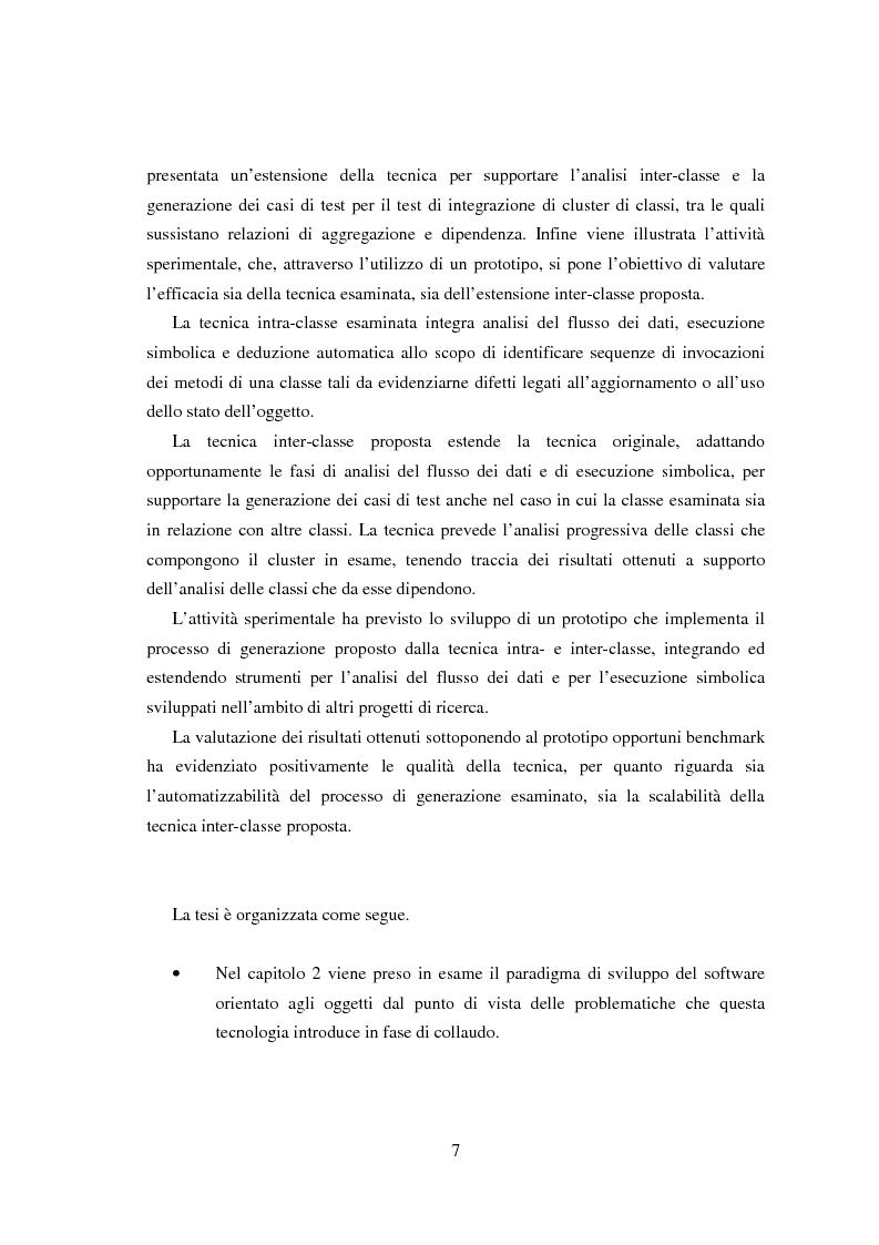 Anteprima della tesi: Una tecnica per il test interclasse, Pagina 3