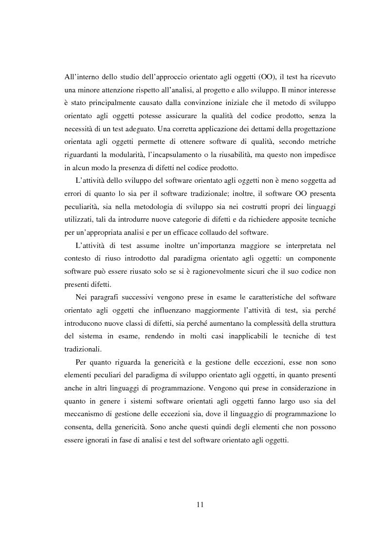 Anteprima della tesi: Una tecnica per il test interclasse, Pagina 7