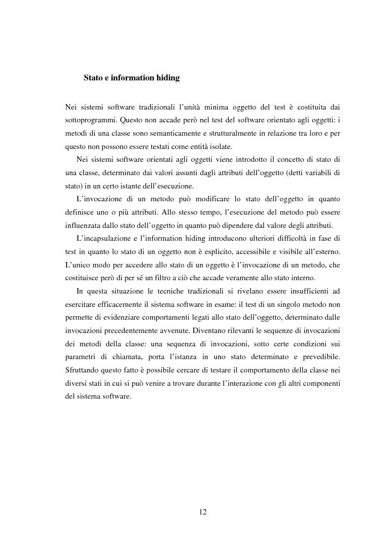 Anteprima della tesi: Una tecnica per il test interclasse, Pagina 8