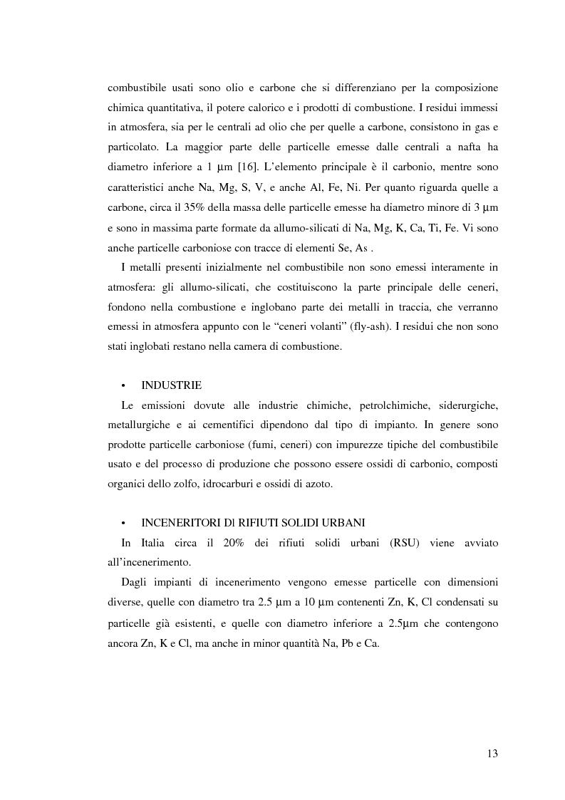Anteprima della tesi: Indagine sulla frazione fine del particolato atmosferico, Pagina 15