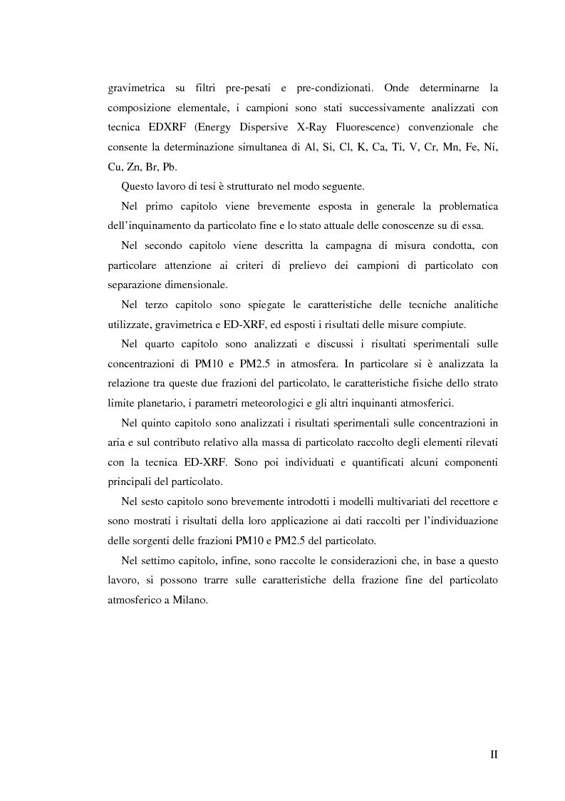 Anteprima della tesi: Indagine sulla frazione fine del particolato atmosferico, Pagina 2