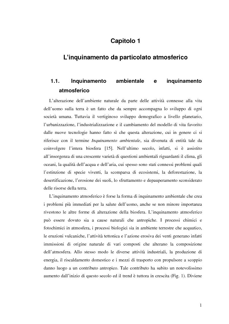 Anteprima della tesi: Indagine sulla frazione fine del particolato atmosferico, Pagina 3