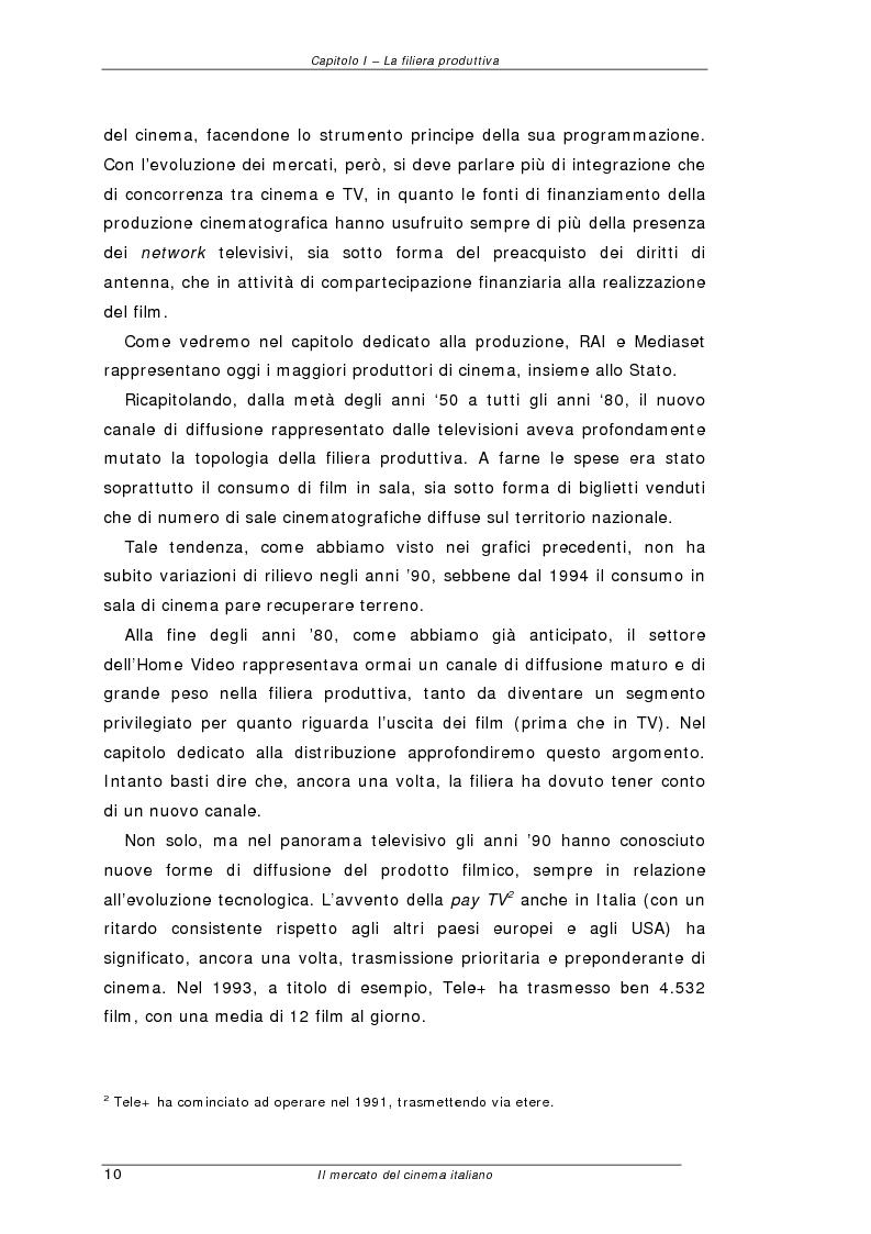 Anteprima della tesi: Il mercato del cinema italiano, Pagina 10