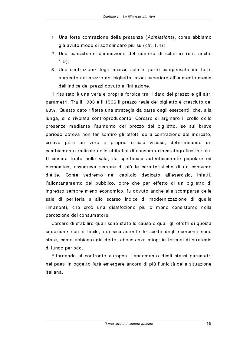 Anteprima della tesi: Il mercato del cinema italiano, Pagina 15