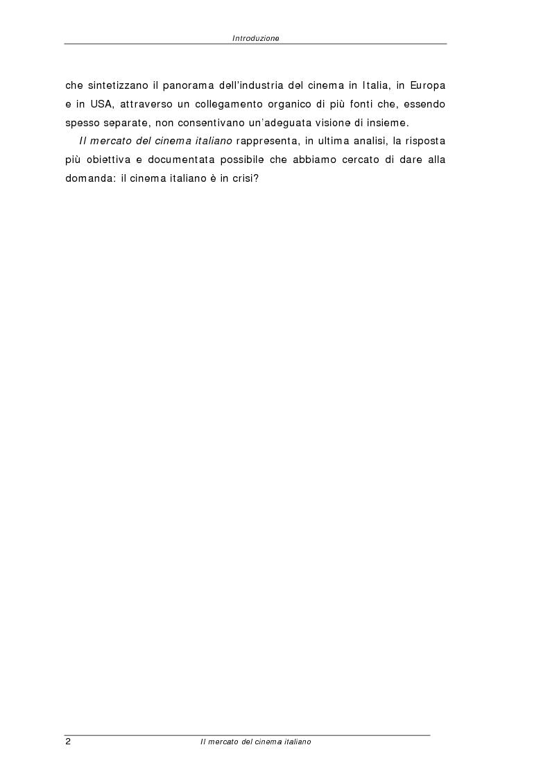 Anteprima della tesi: Il mercato del cinema italiano, Pagina 2