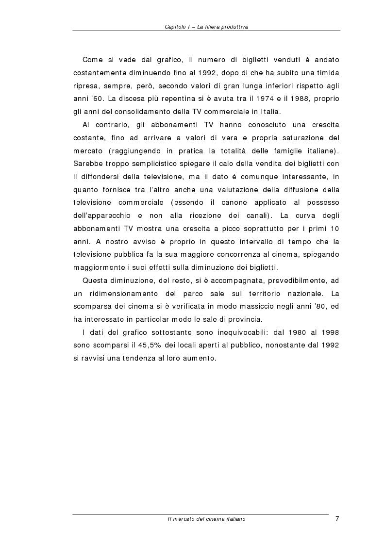 Anteprima della tesi: Il mercato del cinema italiano, Pagina 7