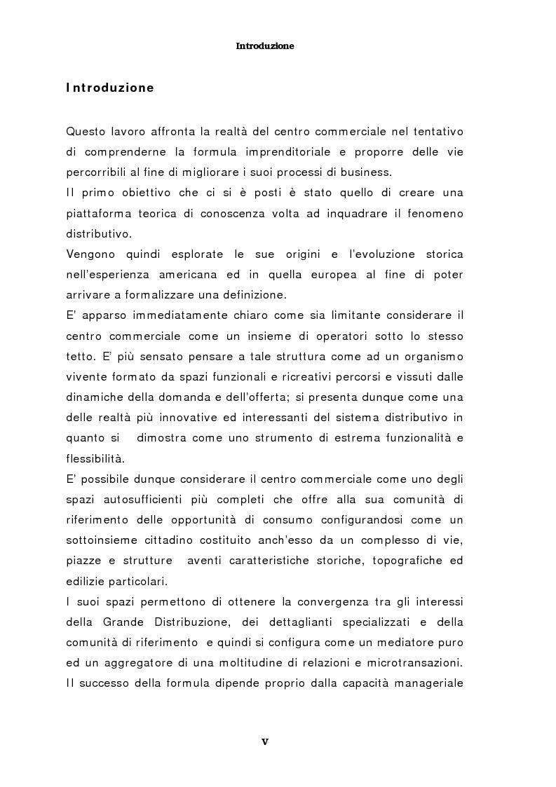 Anteprima della tesi: Il marketing del centro commerciale: un approccio relazionale, Pagina 1