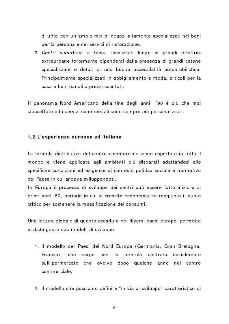 Anteprima della tesi: Il marketing del centro commerciale: un approccio relazionale, Pagina 11