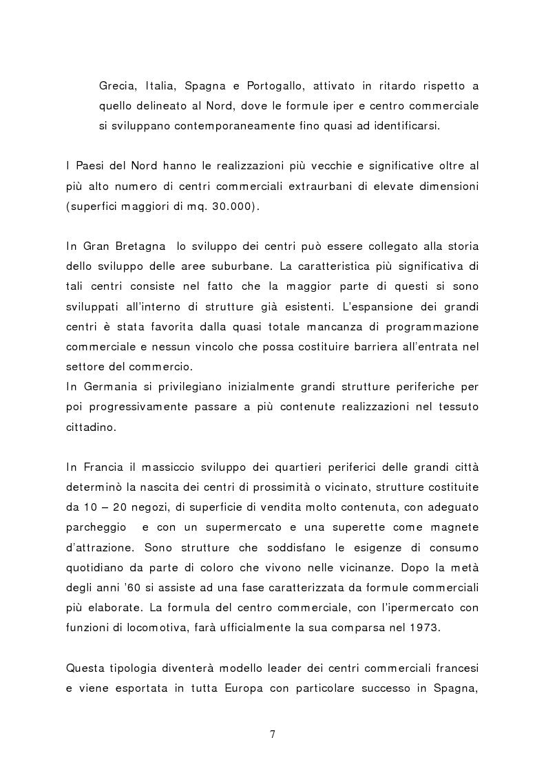 Anteprima della tesi: Il marketing del centro commerciale: un approccio relazionale, Pagina 12
