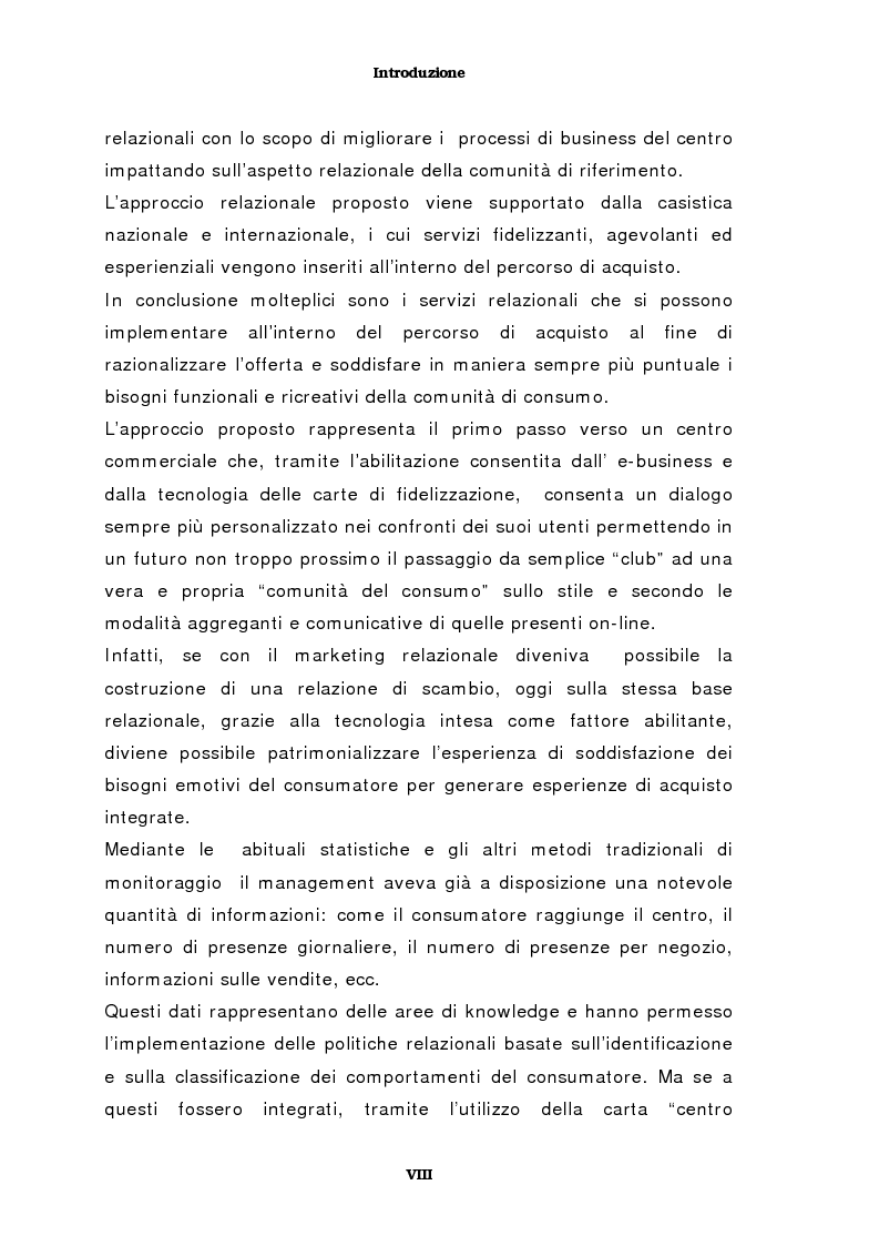 Anteprima della tesi: Il marketing del centro commerciale: un approccio relazionale, Pagina 4