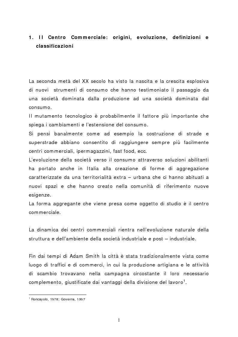 Anteprima della tesi: Il marketing del centro commerciale: un approccio relazionale, Pagina 6