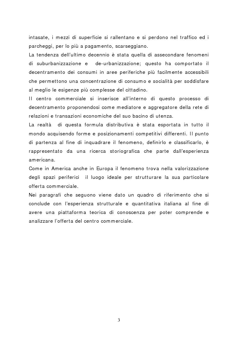 Anteprima della tesi: Il marketing del centro commerciale: un approccio relazionale, Pagina 8