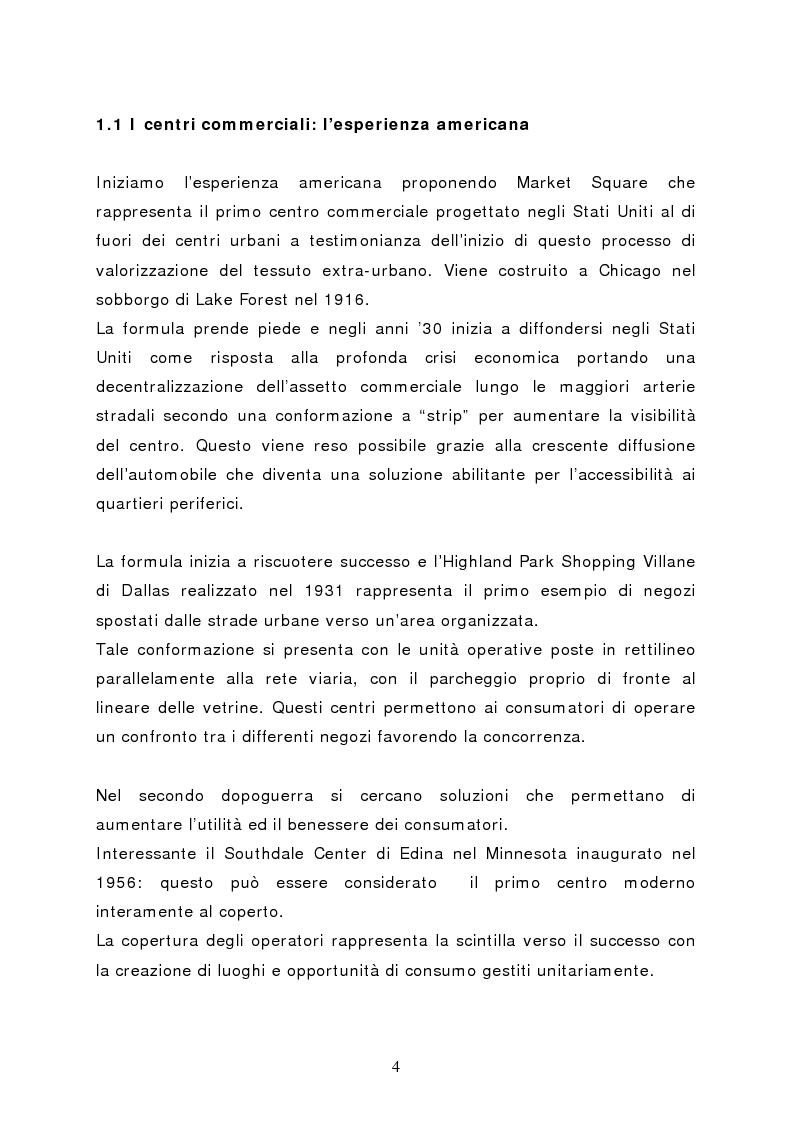 Anteprima della tesi: Il marketing del centro commerciale: un approccio relazionale, Pagina 9
