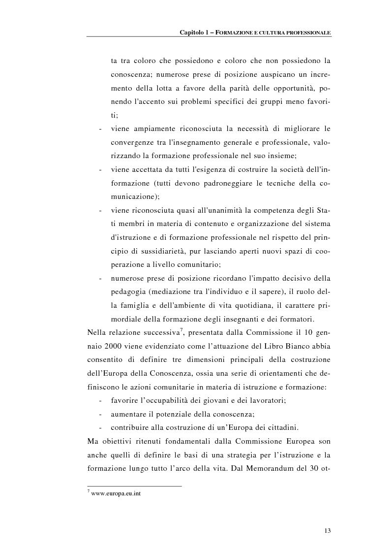 Anteprima della tesi: Procedure di accreditamento e certificazione dei centri di formazione professionale, Pagina 13