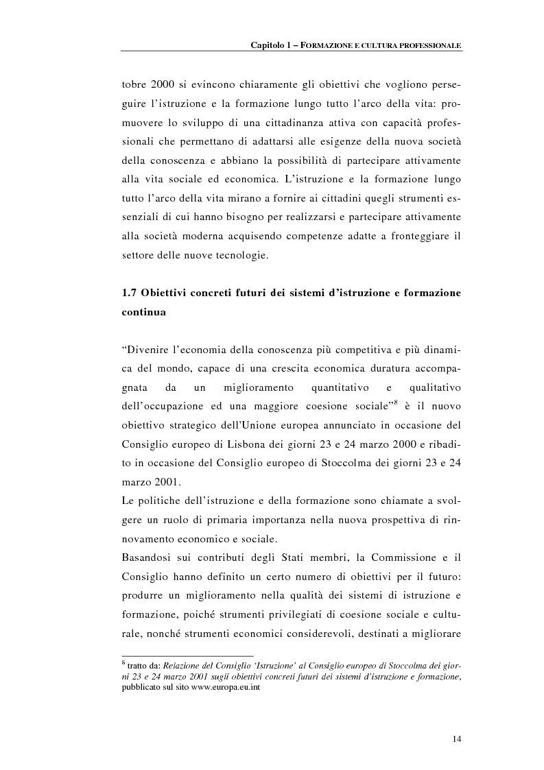 Anteprima della tesi: Procedure di accreditamento e certificazione dei centri di formazione professionale, Pagina 14