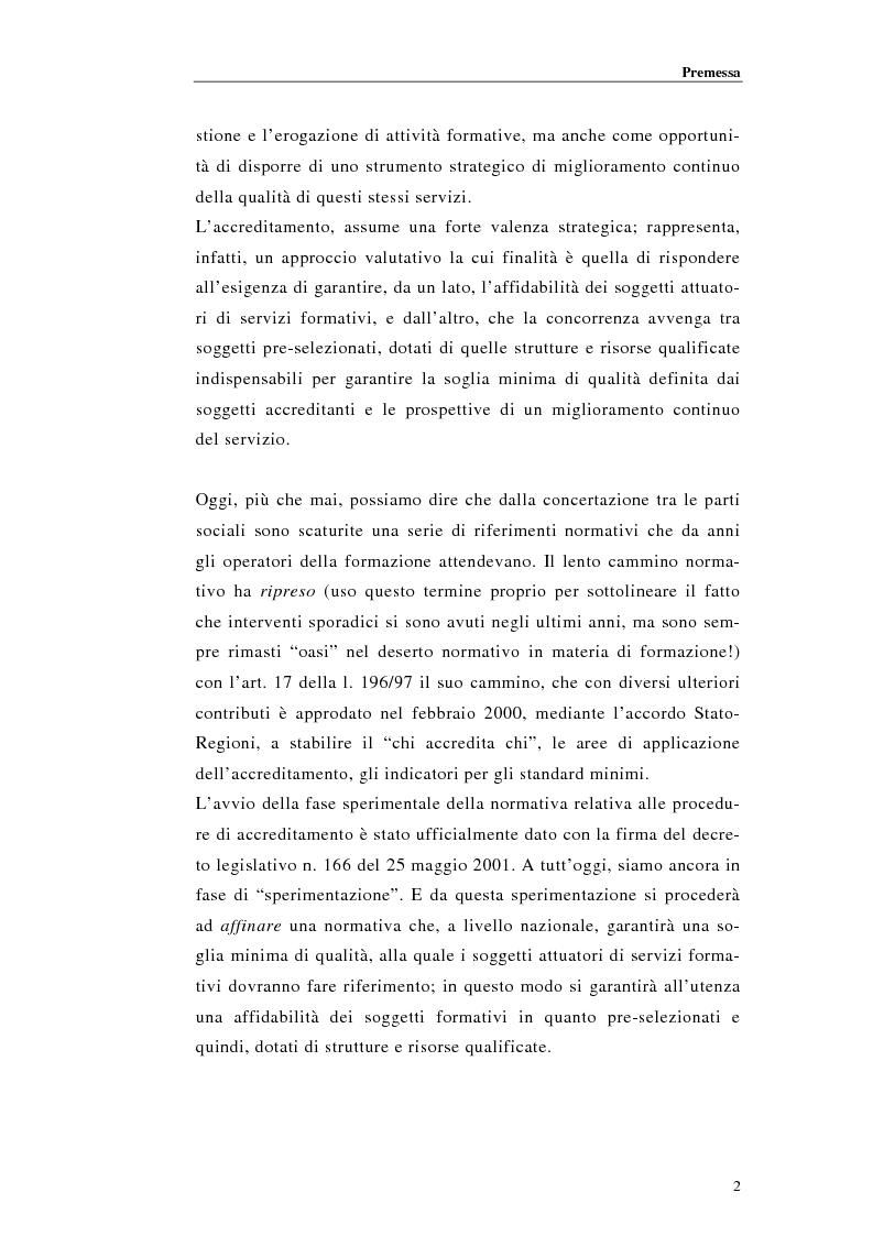 Anteprima della tesi: Procedure di accreditamento e certificazione dei centri di formazione professionale, Pagina 2