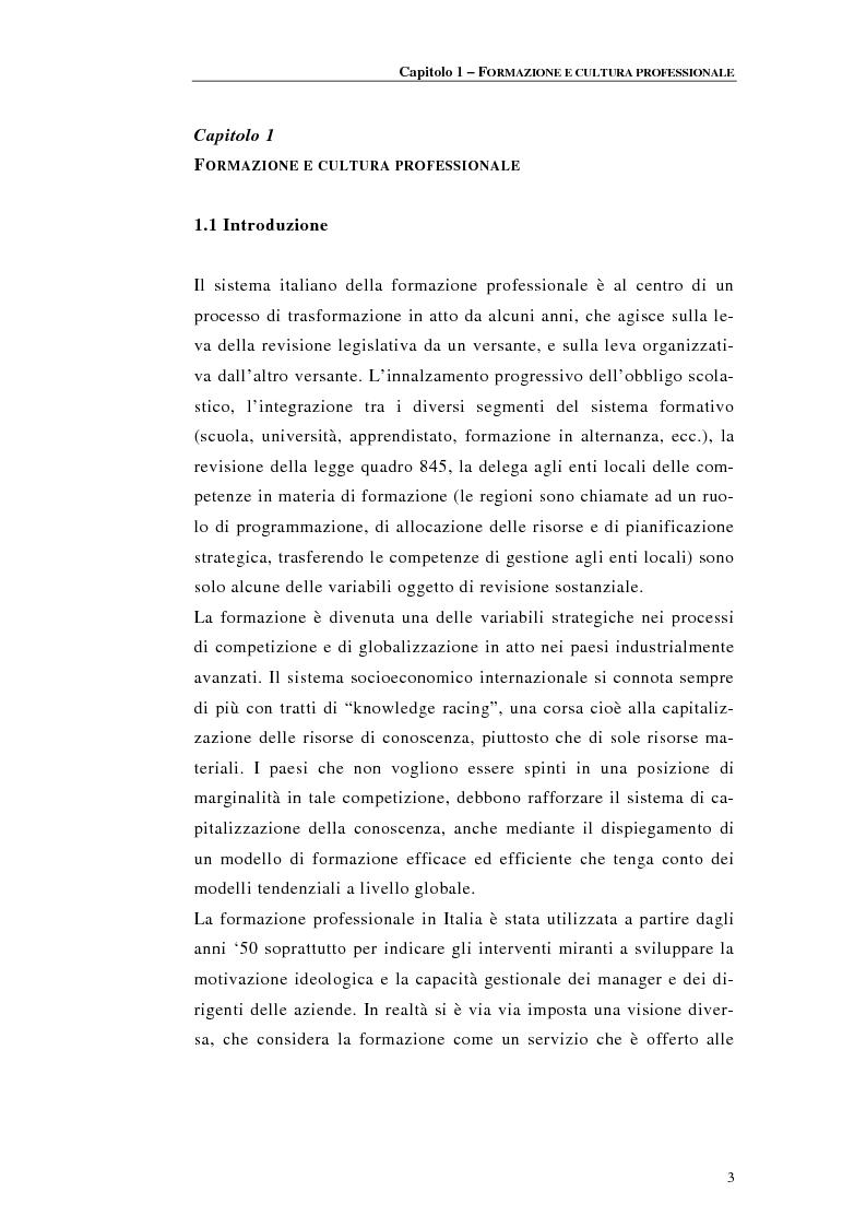 Anteprima della tesi: Procedure di accreditamento e certificazione dei centri di formazione professionale, Pagina 3
