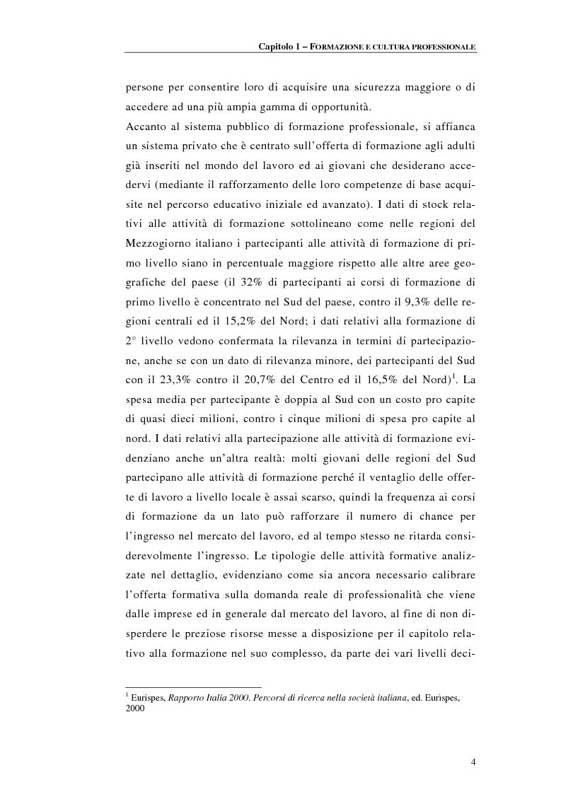Anteprima della tesi: Procedure di accreditamento e certificazione dei centri di formazione professionale, Pagina 4