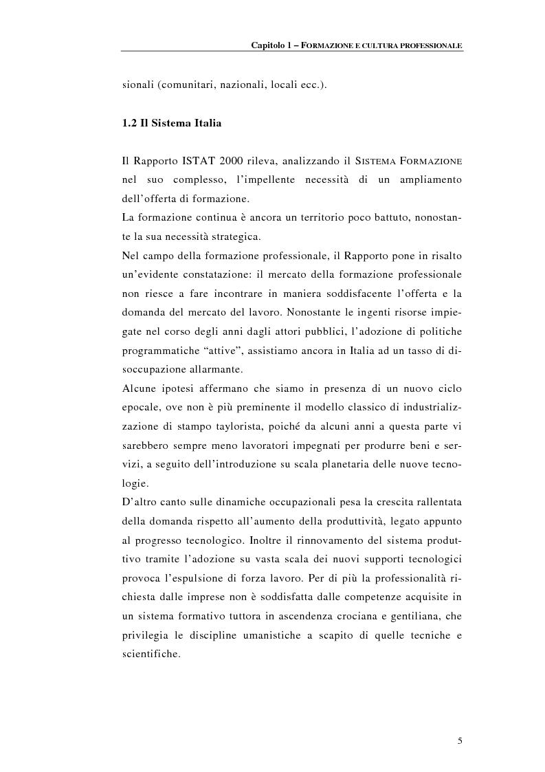 Anteprima della tesi: Procedure di accreditamento e certificazione dei centri di formazione professionale, Pagina 5