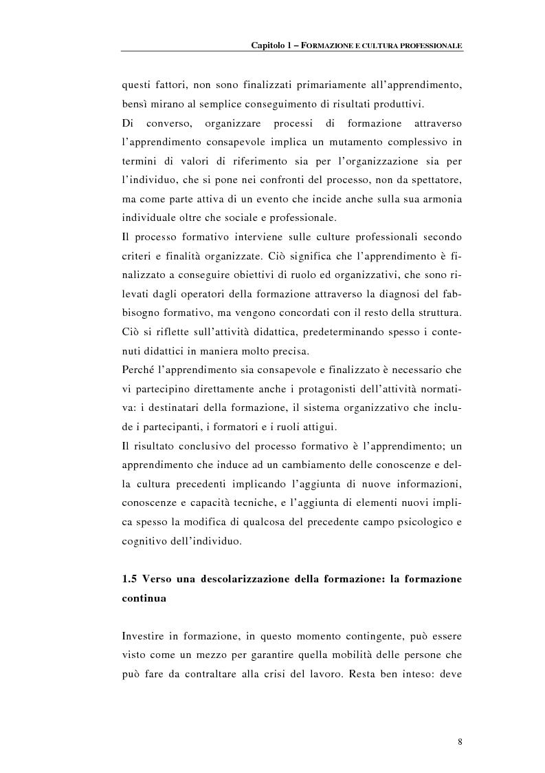 Anteprima della tesi: Procedure di accreditamento e certificazione dei centri di formazione professionale, Pagina 8