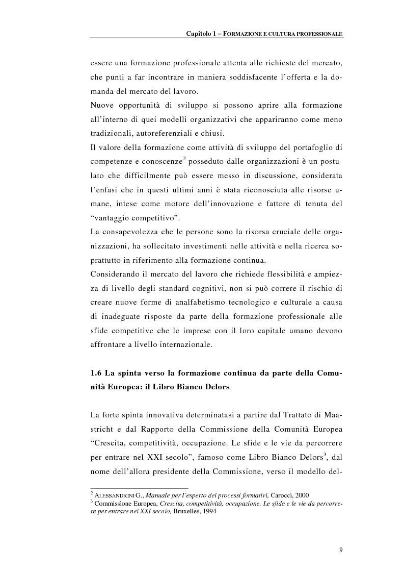 Anteprima della tesi: Procedure di accreditamento e certificazione dei centri di formazione professionale, Pagina 9