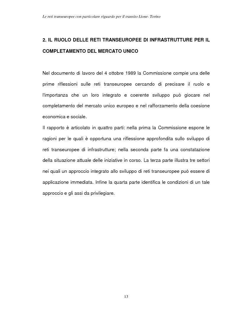 Anteprima della tesi: Le reti transeuropee, Pagina 10