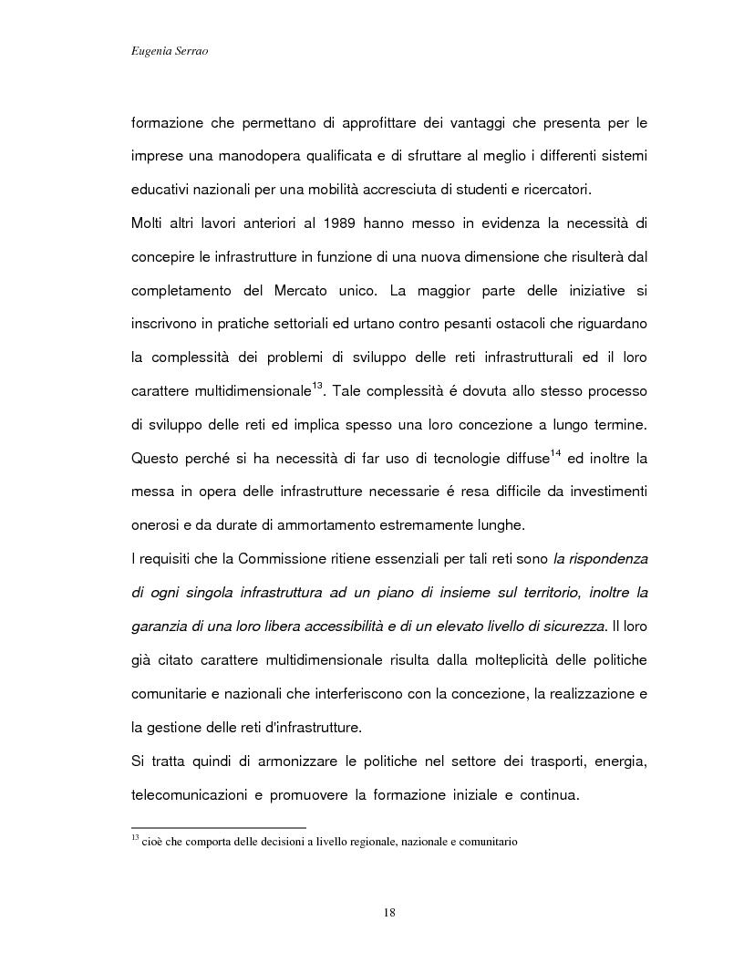 Anteprima della tesi: Le reti transeuropee, Pagina 15