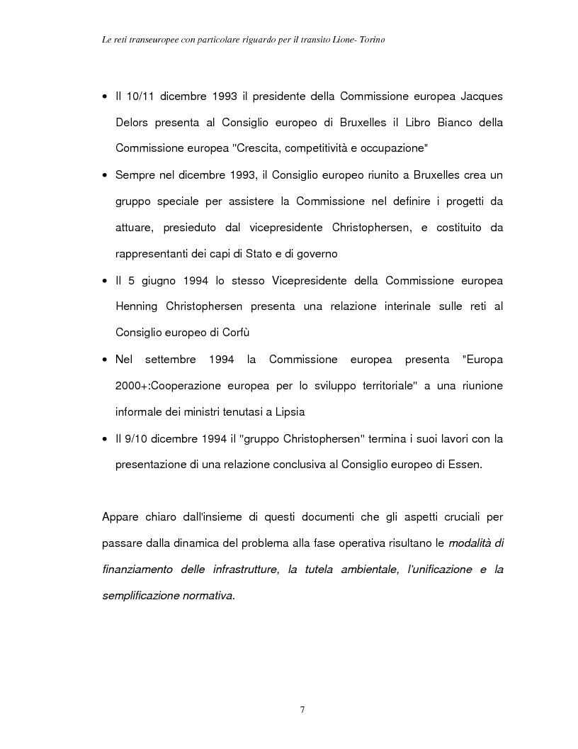 Anteprima della tesi: Le reti transeuropee, Pagina 4