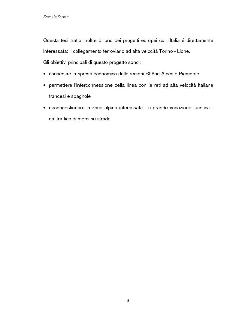 Anteprima della tesi: Le reti transeuropee, Pagina 5