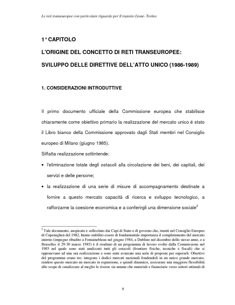Anteprima della tesi: Le reti transeuropee, Pagina 6