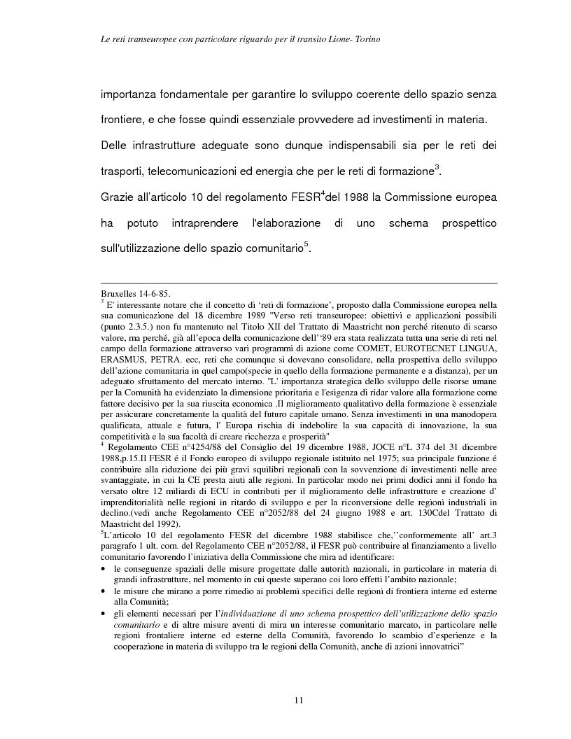 Anteprima della tesi: Le reti transeuropee, Pagina 8