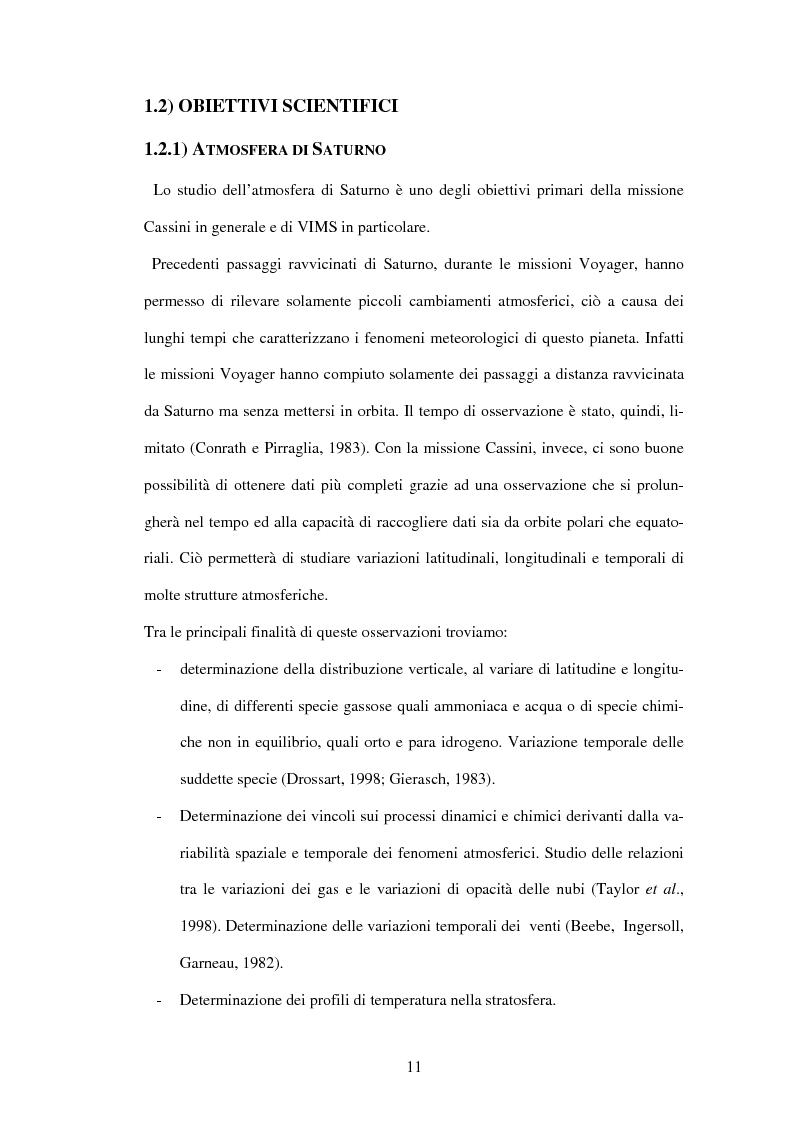 Anteprima della tesi: Calibrazione a terra dello strumento VIMS-V, Pagina 11