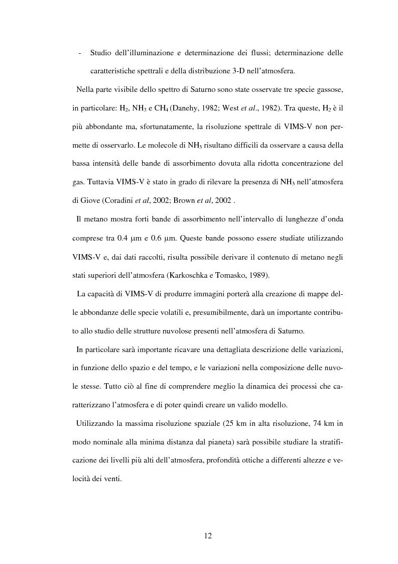 Anteprima della tesi: Calibrazione a terra dello strumento VIMS-V, Pagina 12