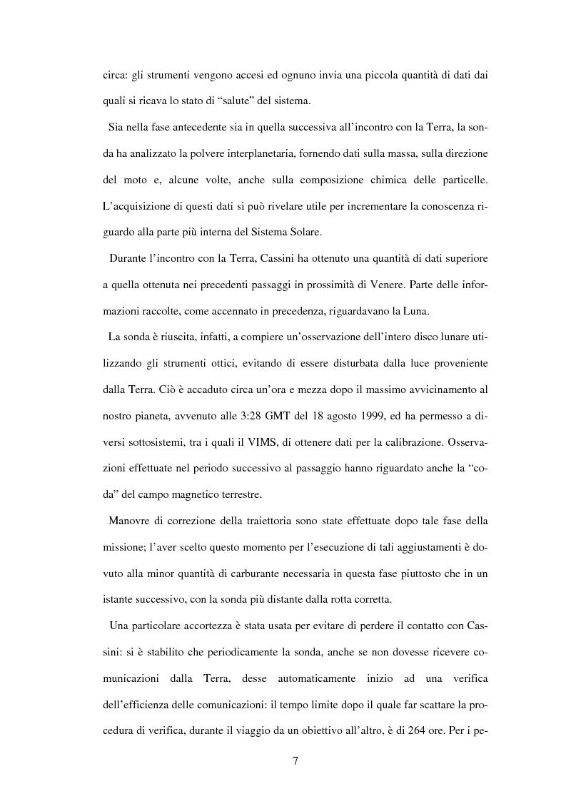 Anteprima della tesi: Calibrazione a terra dello strumento VIMS-V, Pagina 7