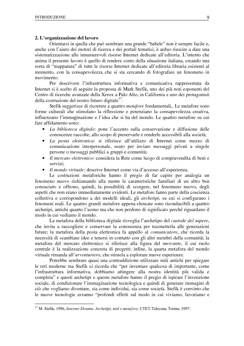 Anteprima della tesi: Nuovi spazi dello scrivere. Analisi delle risorse Internet italiane dedicate alla letteratura, Pagina 5