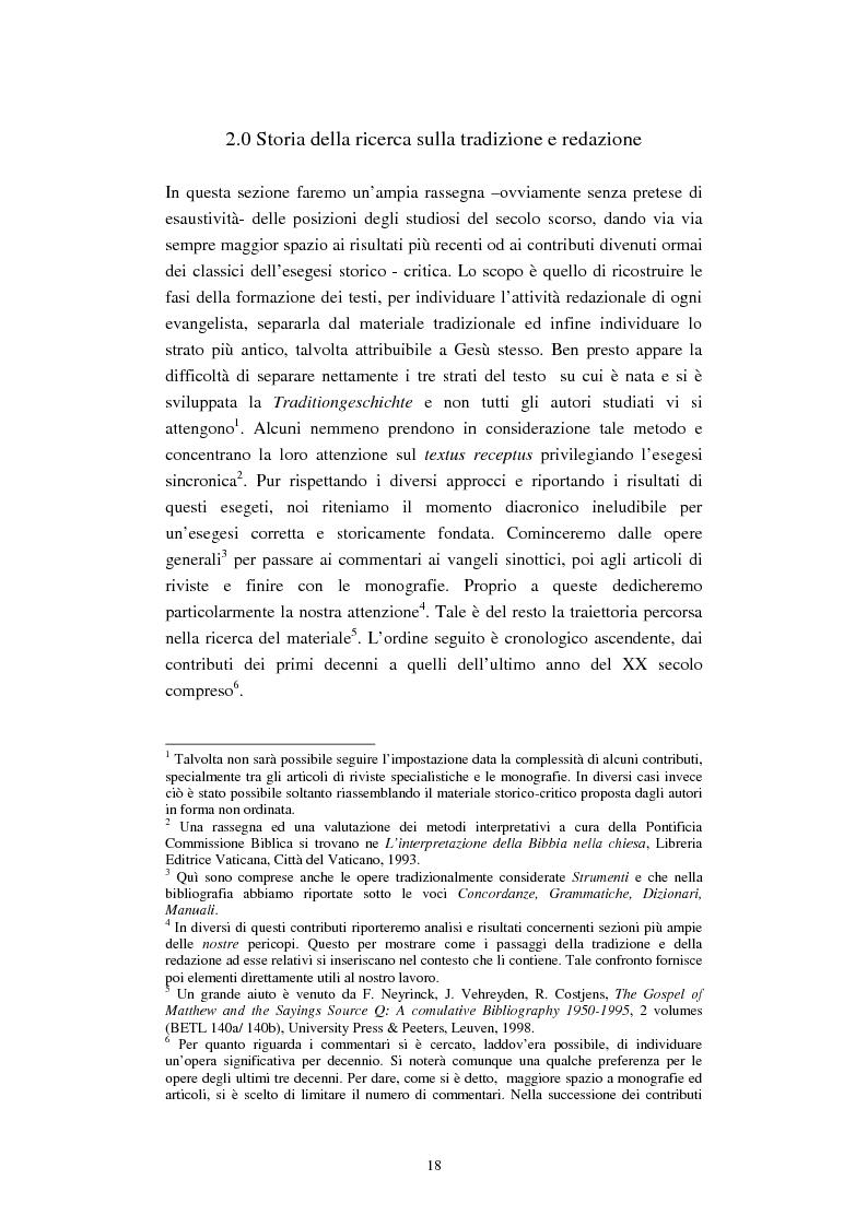 Anteprima della tesi: Il tema del ''non giudicare'' nei Vangeli Sinottici, Pagina 14