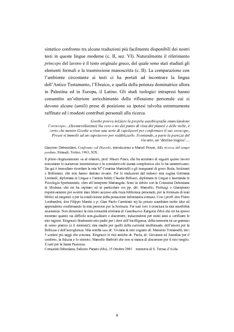 Anteprima della tesi: Il tema del ''non giudicare'' nei Vangeli Sinottici, Pagina 4