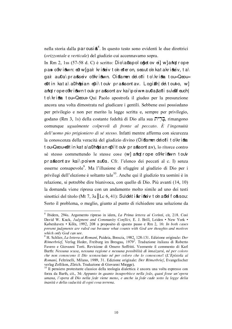 Anteprima della tesi: Il tema del ''non giudicare'' nei Vangeli Sinottici, Pagina 6