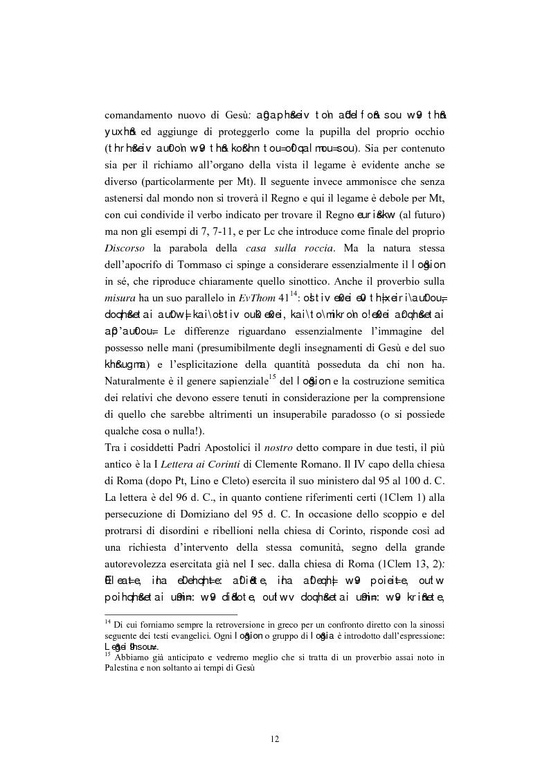 Anteprima della tesi: Il tema del ''non giudicare'' nei Vangeli Sinottici, Pagina 8