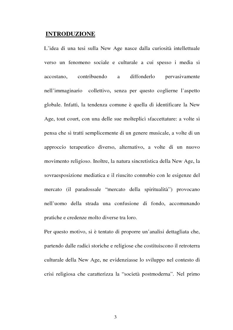 Anteprima della tesi: Nuove forme culturali religiose e giovanili: la New Age, Pagina 1