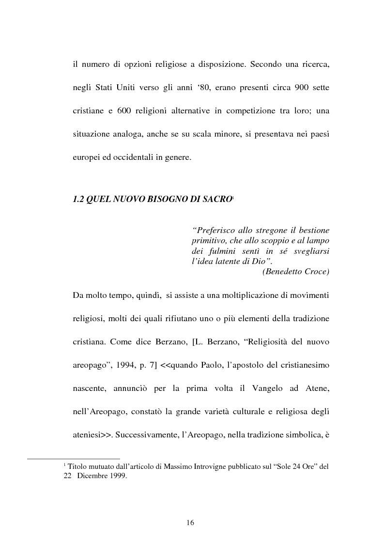 Anteprima della tesi: Nuove forme culturali religiose e giovanili: la New Age, Pagina 14