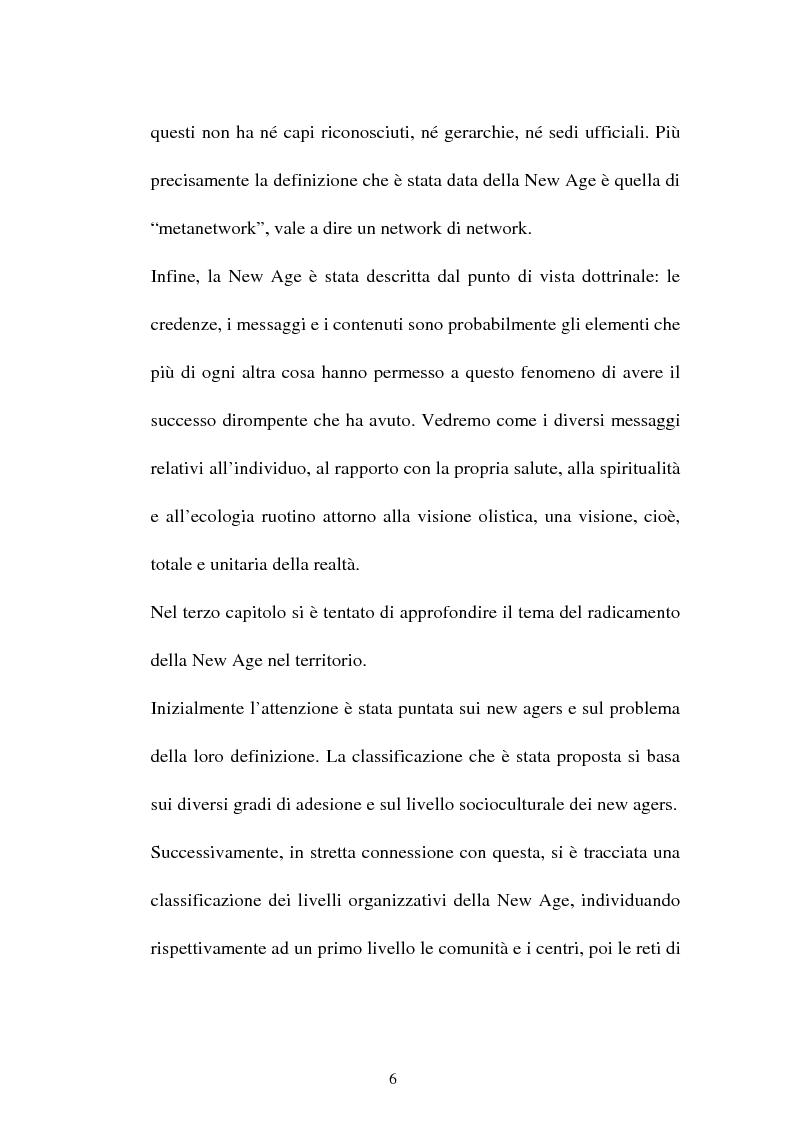 Anteprima della tesi: Nuove forme culturali religiose e giovanili: la New Age, Pagina 4