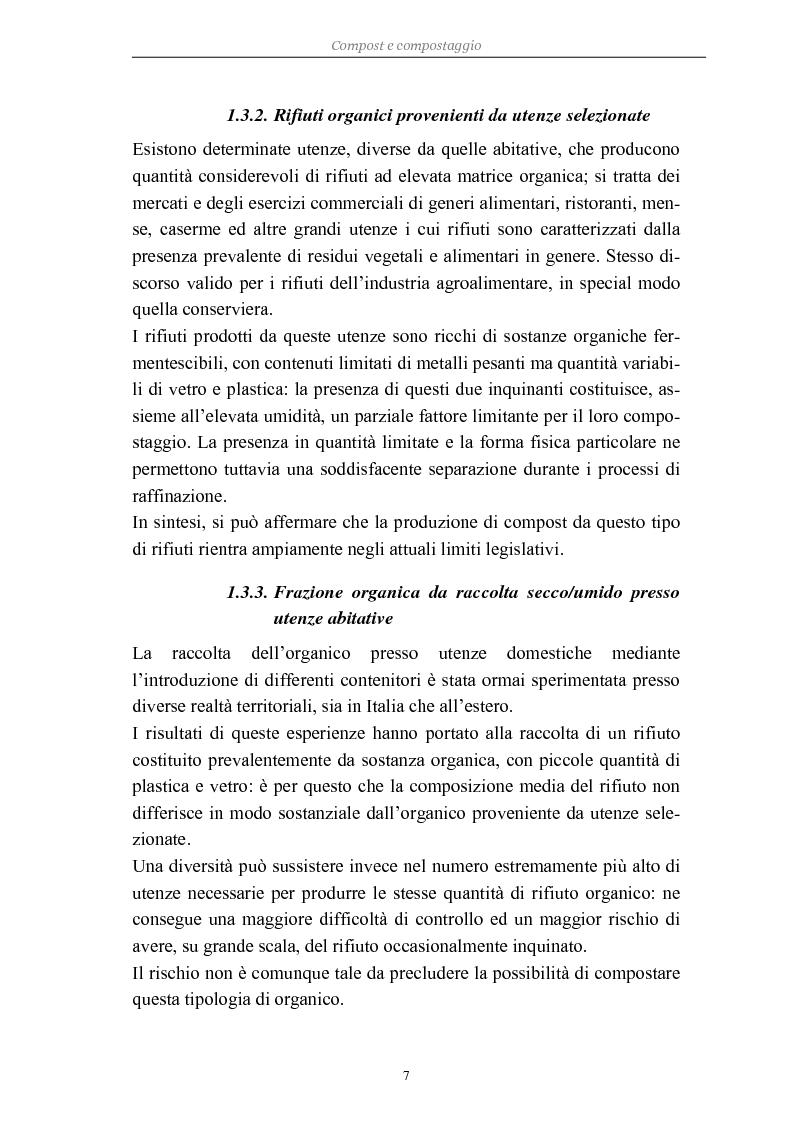 Anteprima della tesi: Problemi di avviamento ad operatività di un impianto di compostaggio, Pagina 7