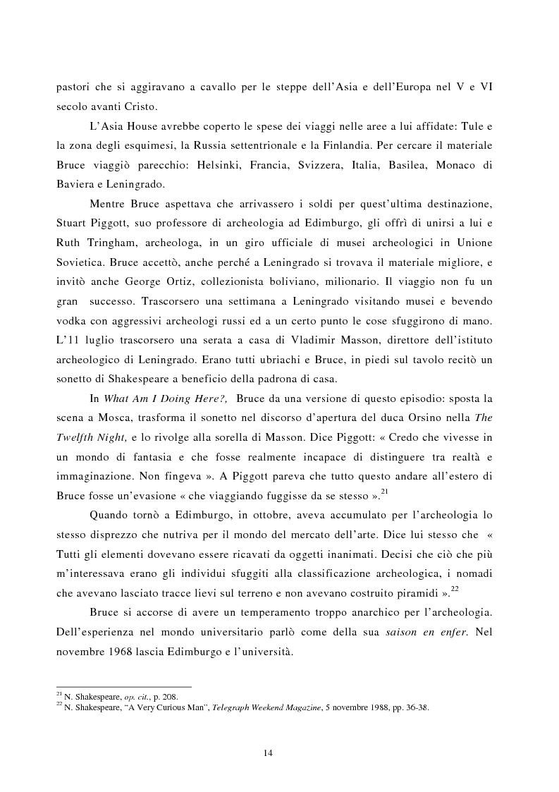 Anteprima della tesi: Nomadismo e sedentarietà nella narrativa di Bruce Chatwin, Pagina 10