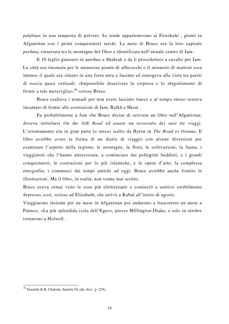 Anteprima della tesi: Nomadismo e sedentarietà nella narrativa di Bruce Chatwin, Pagina 12