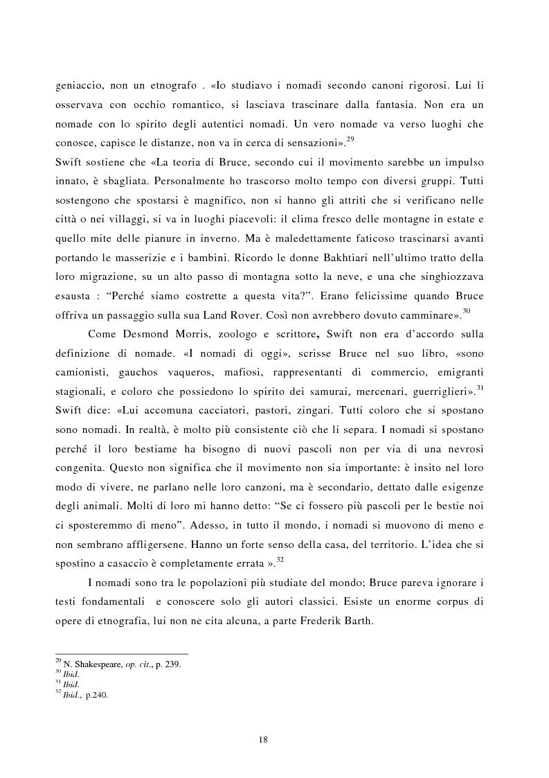 Anteprima della tesi: Nomadismo e sedentarietà nella narrativa di Bruce Chatwin, Pagina 14