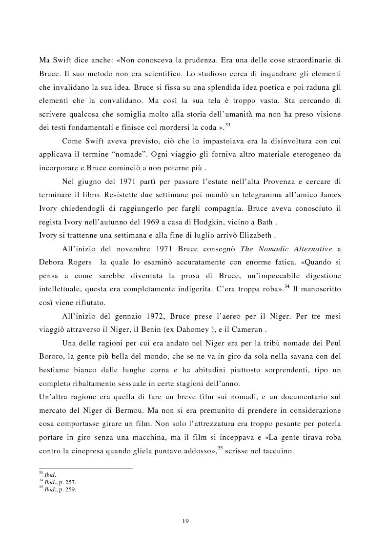 Anteprima della tesi: Nomadismo e sedentarietà nella narrativa di Bruce Chatwin, Pagina 15